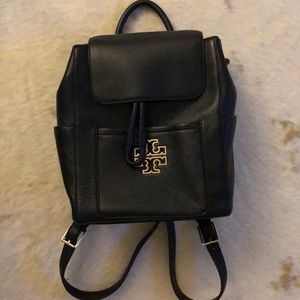 Tory Burch Black Leather Backpack